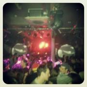 Main room going offf at Flux